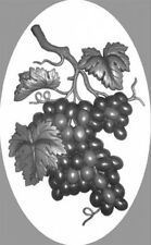 "4""X6"" Grapes static cling etched glass, removable, window decal"