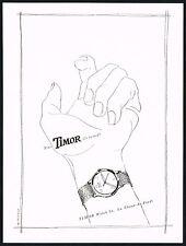 1940's Vintage 1947 Timor Watch Co. Mid Century Modern Greminger Art Print AD