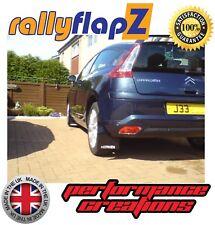 rallyflapz Citroen C4 Rally Schmutzfänger & Reparatur Set schwarz 'Citroen' weiß