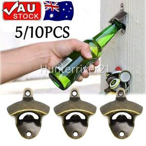 5/10x Rustic Style Cast Iron Wall Mounted Bottle Opener Cave Bar Beer Tool Top
