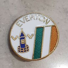Everton Round Pin Badge - Everton Ireland - White