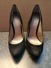 "Women's BLACK SUEDE  Leather Colin Stuart 5"" Shoes Size 8"