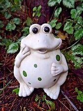"Latex frog mold plaster concrete casting toad mould 6""H x 5""W"