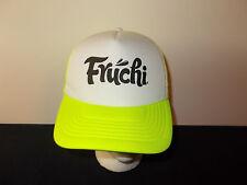 Fruchi Fruit Smoothies neon yellow flourscent snapback trucker mesh hat sku22