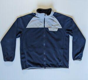 Columbia Mens PFG Performance Fishing Gear Blue Jacket Fleece Full Zip Size XL