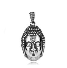Buddha Pendant Necklace Religious Indian Budda NEW Stainless Steel Free P&P