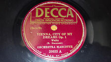 ORCHESTRA MASCOTTE Vienna City Of My Dreams / Under Bridges Paris 78 Decca 20033