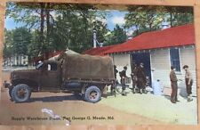 WW2 G503 Cheverlot US Military Truck Fort George G Meade MD Postcard Dated 1942