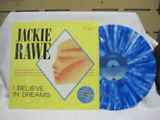 "JACKIE RAWE I BELIEVE IN DREAMS VINYL SINGLE RECORD 12""  Blue & White Marbled"