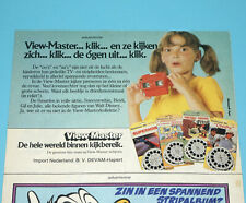 VIEW-MASTER MAGAZINE ADVERT 1970s DONALD DUCK HOLLAND