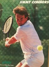 Jimmy Connors Signed Poster -Signed At Prince Tennis Expo In 1994