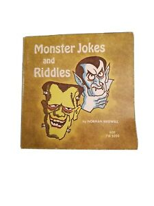 Monster Jokes and Riddles by Norman Bridwell - ©1972 - 1st Printing