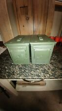 2 PACK US MILITARY ISSUED 50 CAL AMMO CAN BOX (M2A1) METAL, BUYING 2 EA.