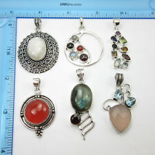 FREE SHIPPING ONLINE STORES ! 925 Silver Plated 6pcs Pendant BIRTHDAY PRESENT