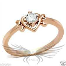 0.25ct Cubic Zircon Cz Aaa Heart Shaped Engagement Ring Size 5 6 7 8 9 10 Gl118