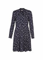 Hobbs Laila Fit & Flare Dress Navy Ivory Size UK6 RRP129