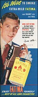1950 Dragnet Jack Webb Fatima cigarettes a wise smoke vintage photo print ad L54