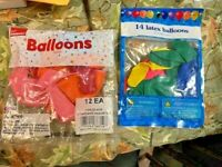 2 packs Assorted Color Latex Balloons  bag    NEW IN PACK
