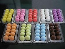 90 Pcs Mix Macaroon on 9 Plastic Tray Dollhouse Miniature Food  Holiday Bakery