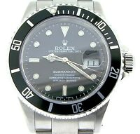 Rolex Submariner Date Stainless Steel Watch SEL Sub w/ Black Dial Bezel 16610