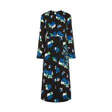 Warehouse Ink Rose Midi Dress - Multi Color Size UK: 6; US: 2     a6