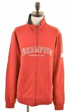 CHAMPION Womens Tracksuit Top Jacket Size 16 Large Red Cotton  KD54