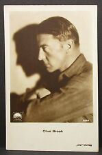 Clive Brook-movie photo postcard-AK-Foto Autografo mappa (Lot g-5937