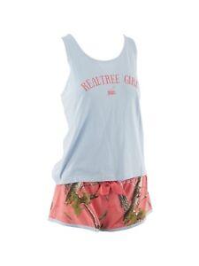 Realtree Girl Karlie Cami & Shorts Lounge Set, Ladies Pajamas Coral Sugar Camo