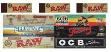 MIXED Rizla KING SIZE ROLLING PAPERS (X6) AND RAW TIPS (X3)