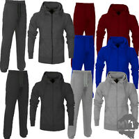 MYT Mens Plain Tracksuit Hooded Hoodie Bottom Jogging Suit Joggers
