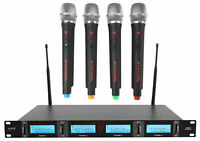 Rockville RWM4401UH UHF (4) Wireless HandHeld Microphones 4 Church Sound Systems