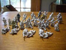 Classic Metal Ww 2 German Ss Mg Platoon? Gebirgsjager? 32 pieces Bolt Action 28m