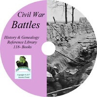 Civil War BATTLES - History & Genealogy - Battlefields - 118 Books on DVD CD