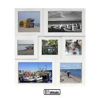 Collage Foto-Rahmen Shinsuke® Multishot für 7 Fotos - Kunststoff 33,5x29cm weiss