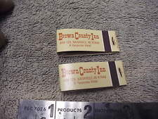 Brown Country Inn , a Harpenau Holtel Nashville In 47448, Lot of 2 Matchbooks