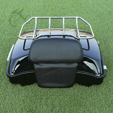 Razor Tour Pak + Luggage Rack w/ Backrest For HD Harley Touring Road King Glide