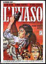 L'EVASO MANIFESTO CINEMA FILM ALAIN DELON 1971 LA VEUVE COUDERC MOVIE POSTER 2F
