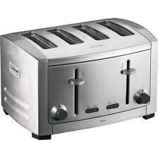 Sunbeam Cafe Series 4 Slice Toaster Brushed Stainless Steel Model TA9400