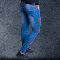 Mens Jeans Slim Fit Super Stretch Skinny Jeans Fashion Denim Trousers Pant Pants