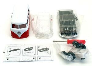 Welly 1/38 Scale 00485 - Build Your Own Volkswagen Bus - Red/White