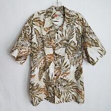 Hilo Hatties The Hawaiian Original Mens Floral Camp Shirt Leaves Size XL H420