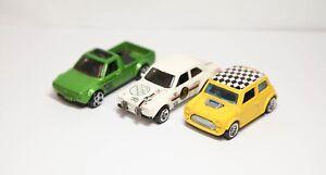 Hot Wheels Mini Cooper & Volkswagen Caddy & Ford Escort Gumball 3000