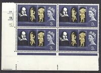 1964 Shakespeare (Ord) 3d No Dot Cylinder 1A1B1C - UNMOUNTED MINT/MNH