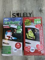 2020 The Grinch & Snowman Gemmy Airblown Inflatable Set 3 ft. Car Buddy