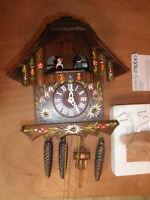 Cuckoo Clock German NIGHT SHUT OFF working SEE VIDEO Musical Chalet 1 Day CK2360
