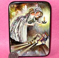 Cascanueces Laqueado Caja Mano Pintado Carcasa Rusa Fairy Cuento Navidad Toy De