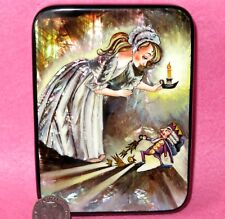 RUSSIAN LACQUER SHELL Box HAND PAINTED Fairy Tale Nutcracker Christmas Toy GIFT