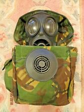2007 BRITISH ARMY S10 GAS MASK (SIZE 4), FILTER & GOOD HAVERSACK!