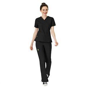 WonderWink Scrubs Set ORIGINS Women's V-Neck Top & Cargo Pant 6016/5026 Regular