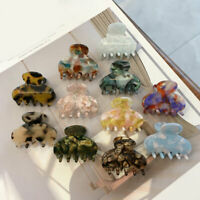 Mini Hair Clips Acetate Sheet Claw Crab Geometric Barrettes Accessories Acrylic